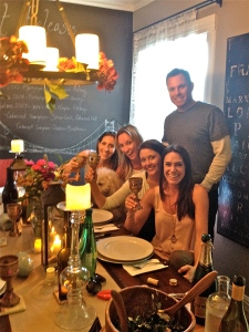 My lovely friends enjoying Short Ribs and hour later than promised (but worth the wait!)