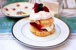 Strawberry Shortcake with Bourbon Whipped Cream
