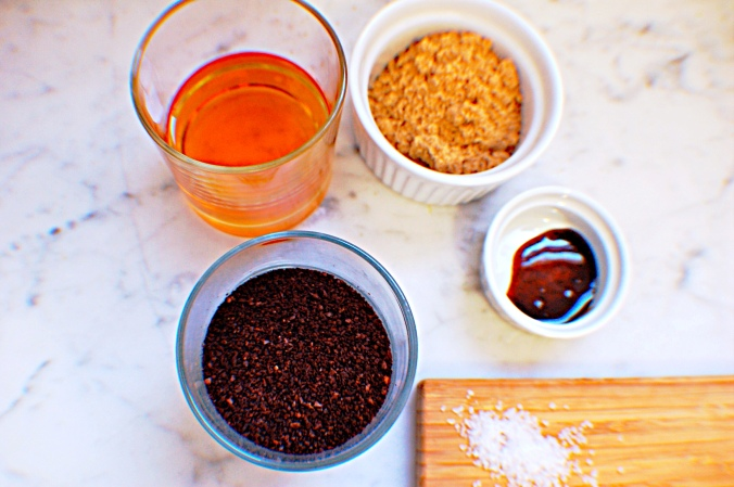 Ingredients for Irish Coffee pale ice cream
