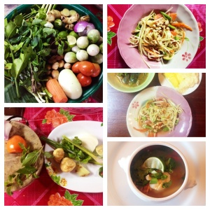 Thai Charm cooking school ingredients and fare
