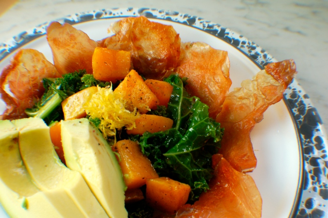 Prosciutto, Butternut Squash, and Kale Salad