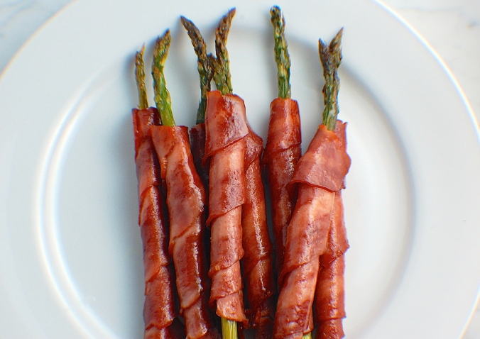 Turkey Bacon Asparagus. Eat your veggies!!